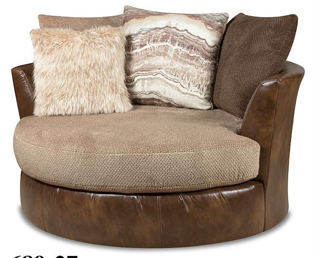 Picture of Wesley Toast Swivel Pod Chair