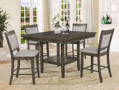 Fulton Grey Counter Table with Six Stools