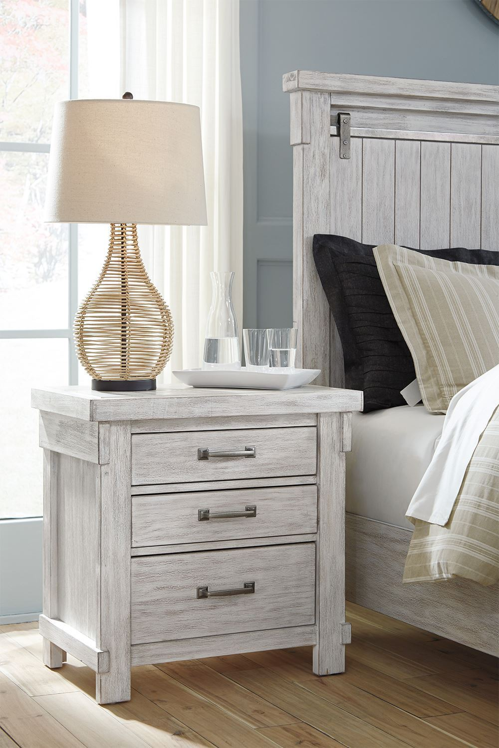 Picture of Brashland Three Drawer Nightstand