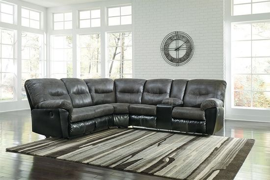 Picture of Leonberg Slate Two Piece Reclining Sectional
