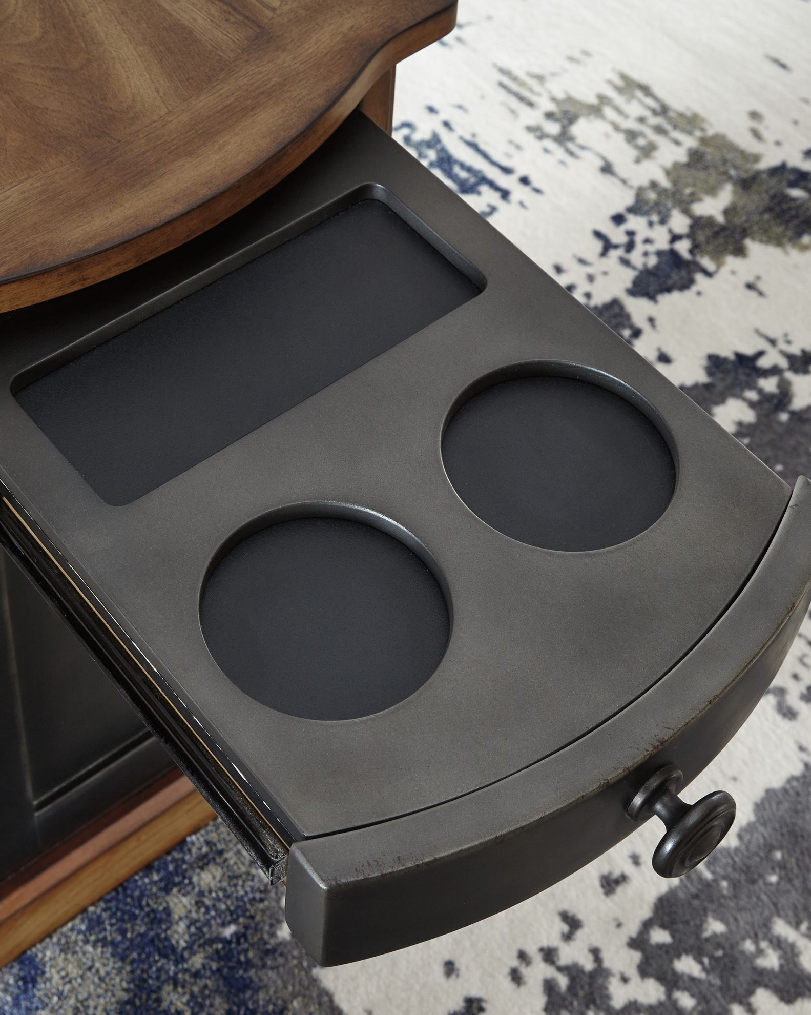 Picture of Laflorn Brown-Gray Chairside End Table