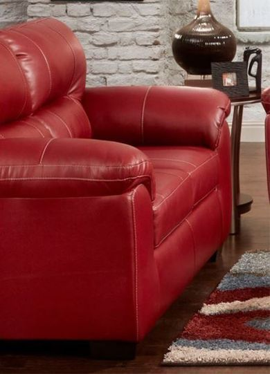Austin Red Loveseat