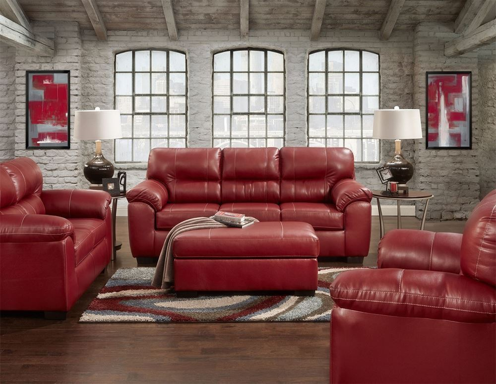 Picture of Austin Red Loveseat