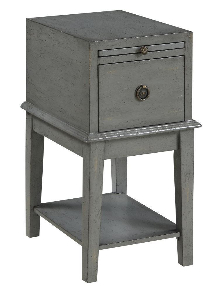 Picture of Grey One Drawer Chairside Table