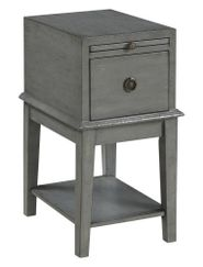 Grey One Drawer Chairside Table