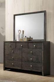 Evan Grey Dresser and Mirror Set