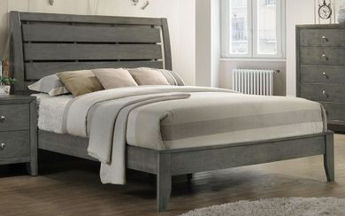 Evan Grey King Bed Set