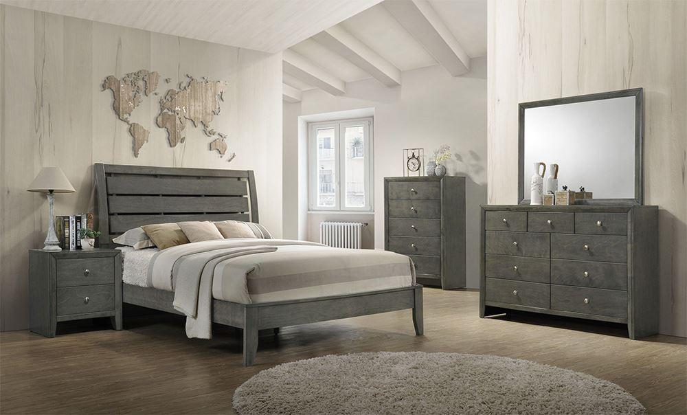 Evan Grey King Bedroom Set