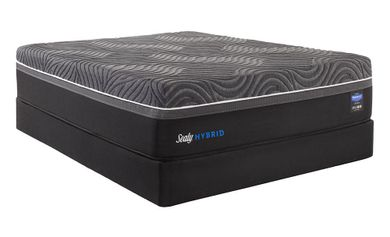 Sealy Silver Chill Firm Low Profile Boxspring-Queen Mattress Set