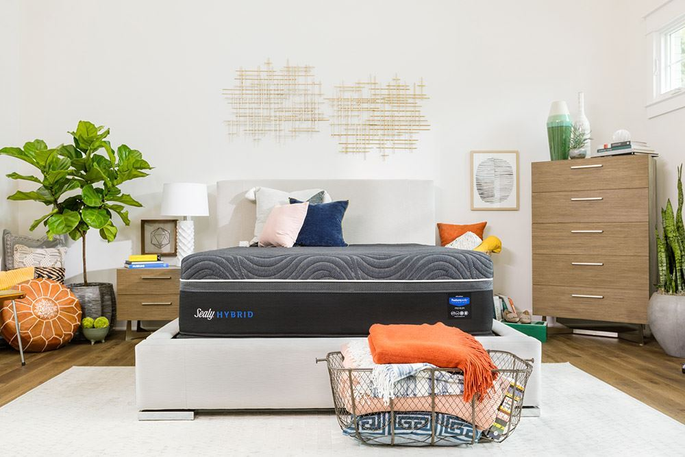 Picture of Sealy Silver Chill Firm Ease Adjustable Base-Full Mattress Set