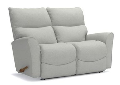 Rowan Platinum Reclining Loveseat