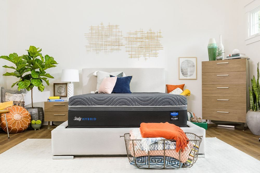Picture of Sealy Silver Chill Firm Ease Adjustable Base-California King Mattress Set
