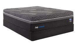 Sealy Silver Chill Firm Adjustable Head-Queen Mattress Set