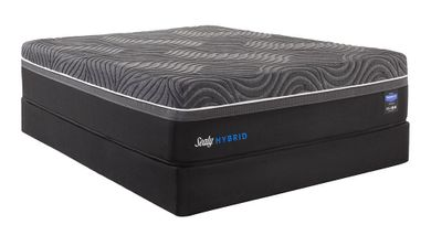 Sealy Silver Chill Plush Low Profile Boxspring-Queen Mattress Set