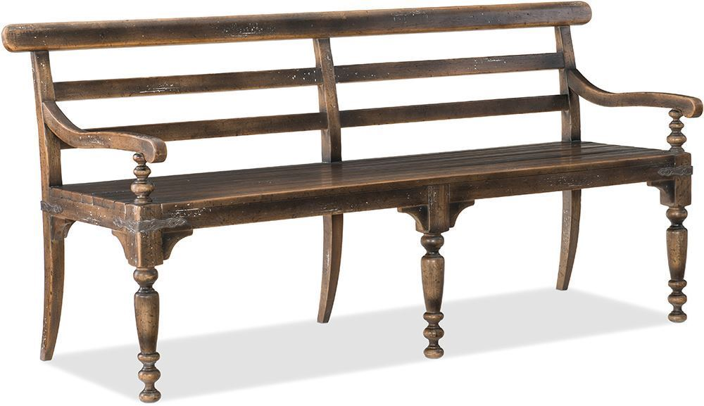 Picture of Hill Country Rectangular Table with Four Side Chairs and One Bench