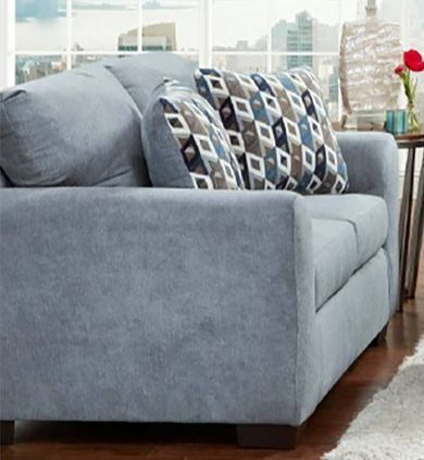 Anna Blue Loveseat