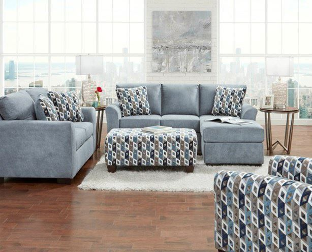 Picture of Anna Blue Loveseat