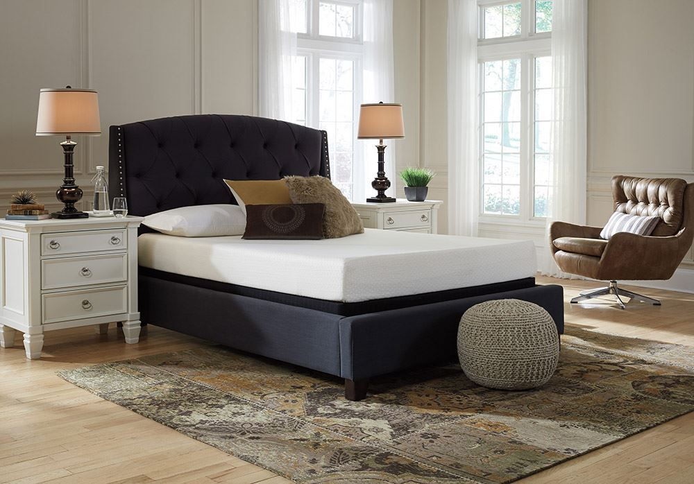 Picture of Ashley Chime 8 Inch Low Profile Boxspring Queen Mattress Set