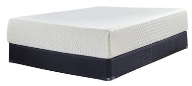 Ashley Chime 12 Inch Adjustable Head and Foot-Queen Mattress Set