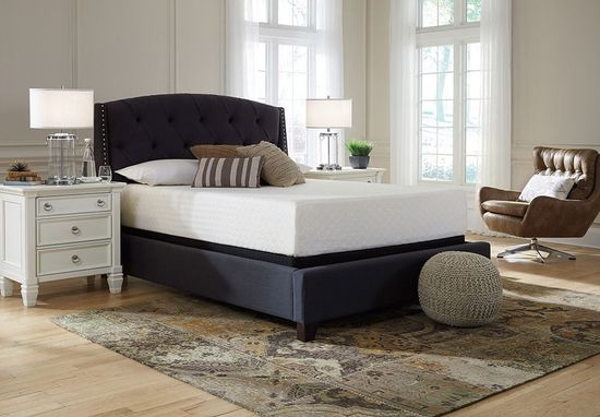 Picture of Ashley Chime 12 Inch Adjustable Head and Foot-Queen Mattress Set
