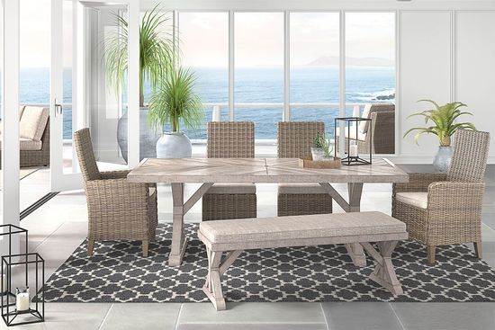 Picture of Beachcroft Table with Two Side Chairs and Two Arm Chairs
