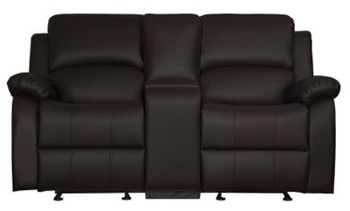 Jet Dark Brown Glider Console Loveseat