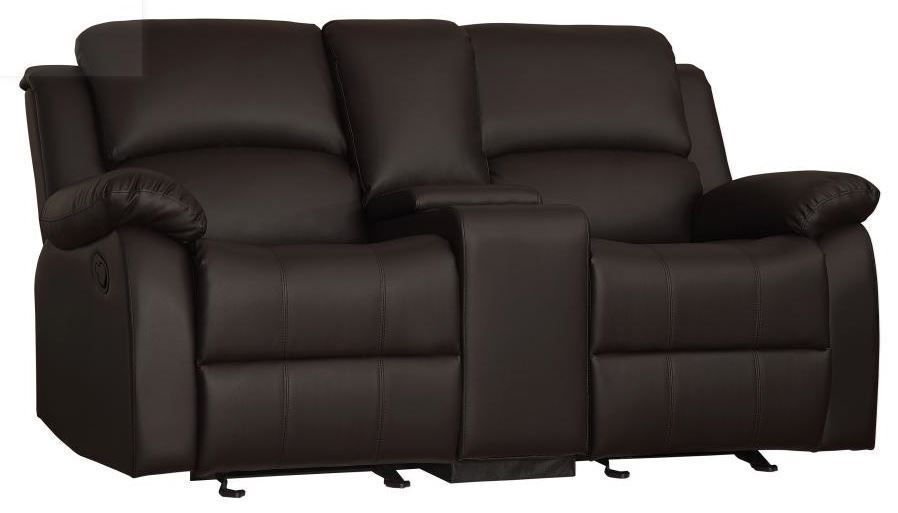 Picture of Jet Dark Brown Glider Console Loveseat