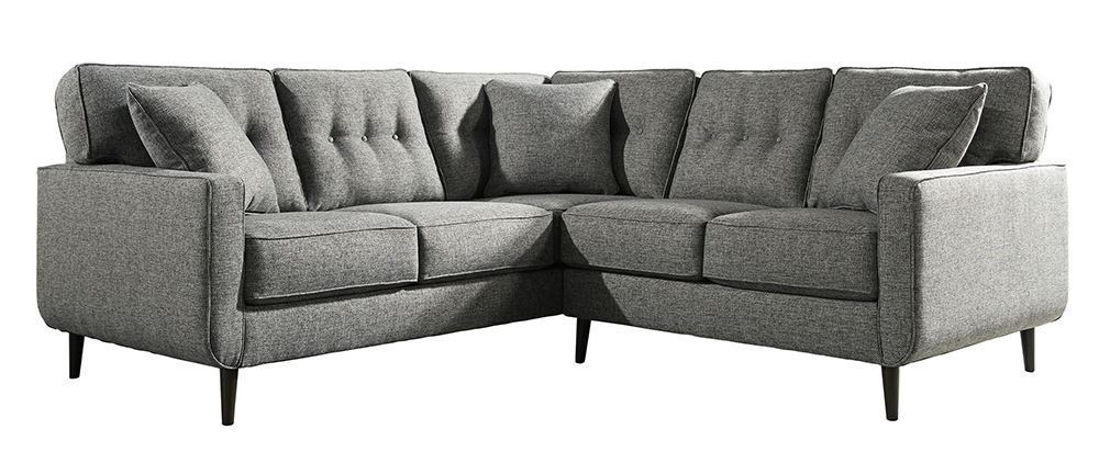 Zardoni Charcoal Two Piece Sectional The Furniture Mart
