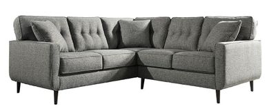 Zardoni Charcoal Two Piece Sectional