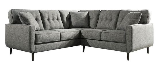 Zardoni Charcoal Two Piece Sectional Unclaimed Freight