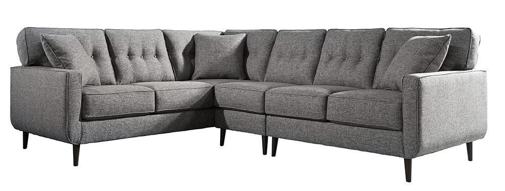 Picture of Zardoni Charcoal Three Piece Sectional