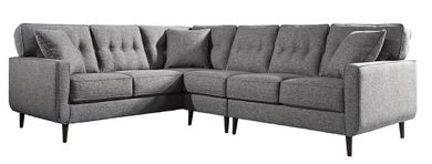 Zardoni Charcoal Three Piece Sectional