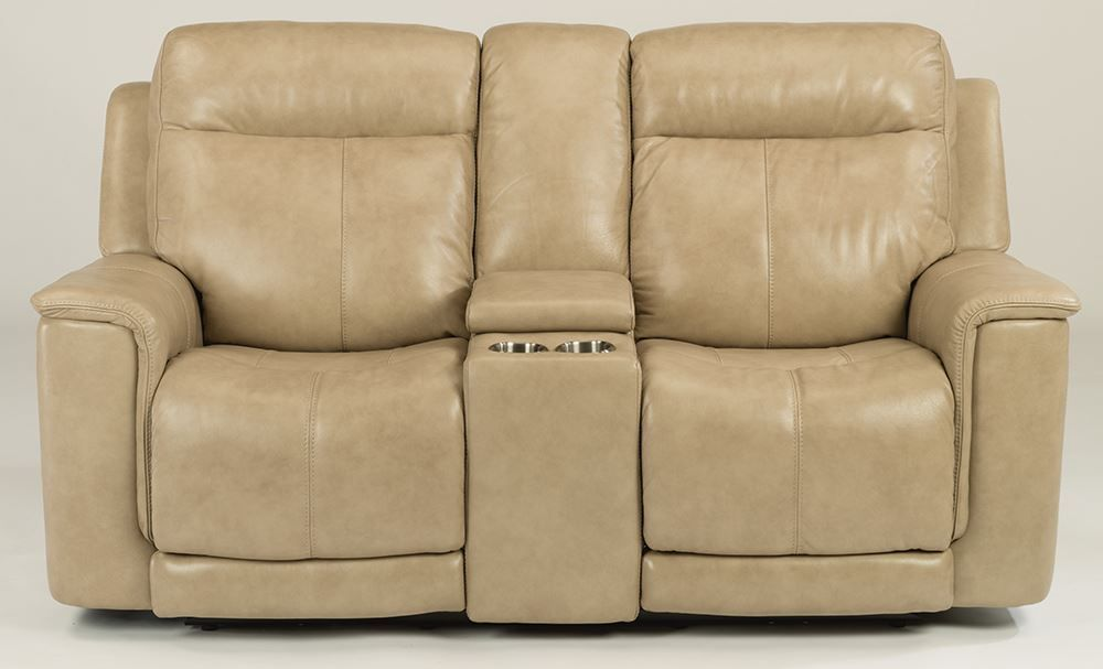 Picture of Miller Pebblestone Power Console Loveseat