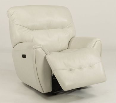 Blaise White Power Recliner