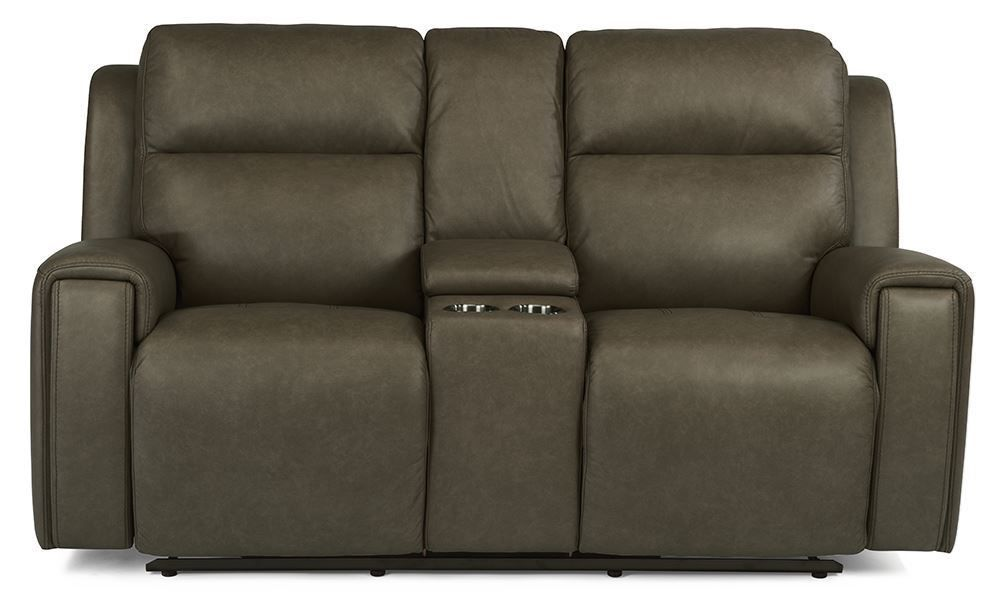 Picture of Jasper Pewter Power Reclining Console Loveseat