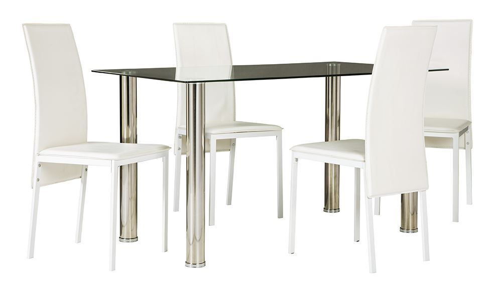 Picture of Sariden Table with Four White Chairs