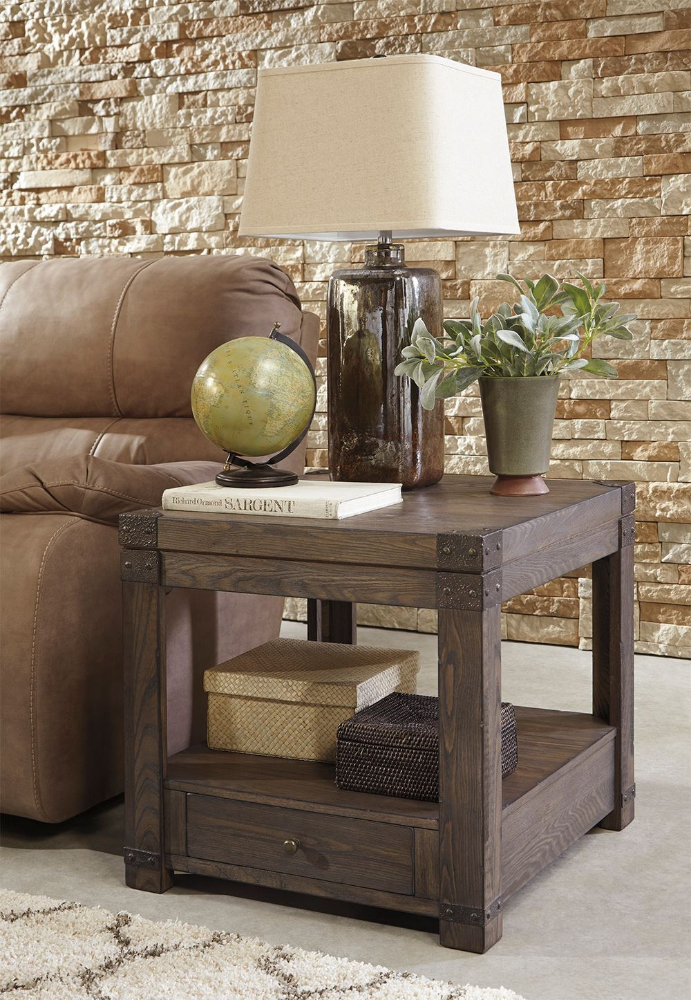 Picture of Burladen Brown Rectangular End Table