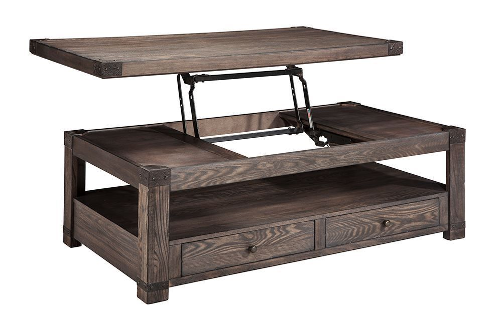 Picture of Burladen Brown Rectangular Lift Top Cocktail Table