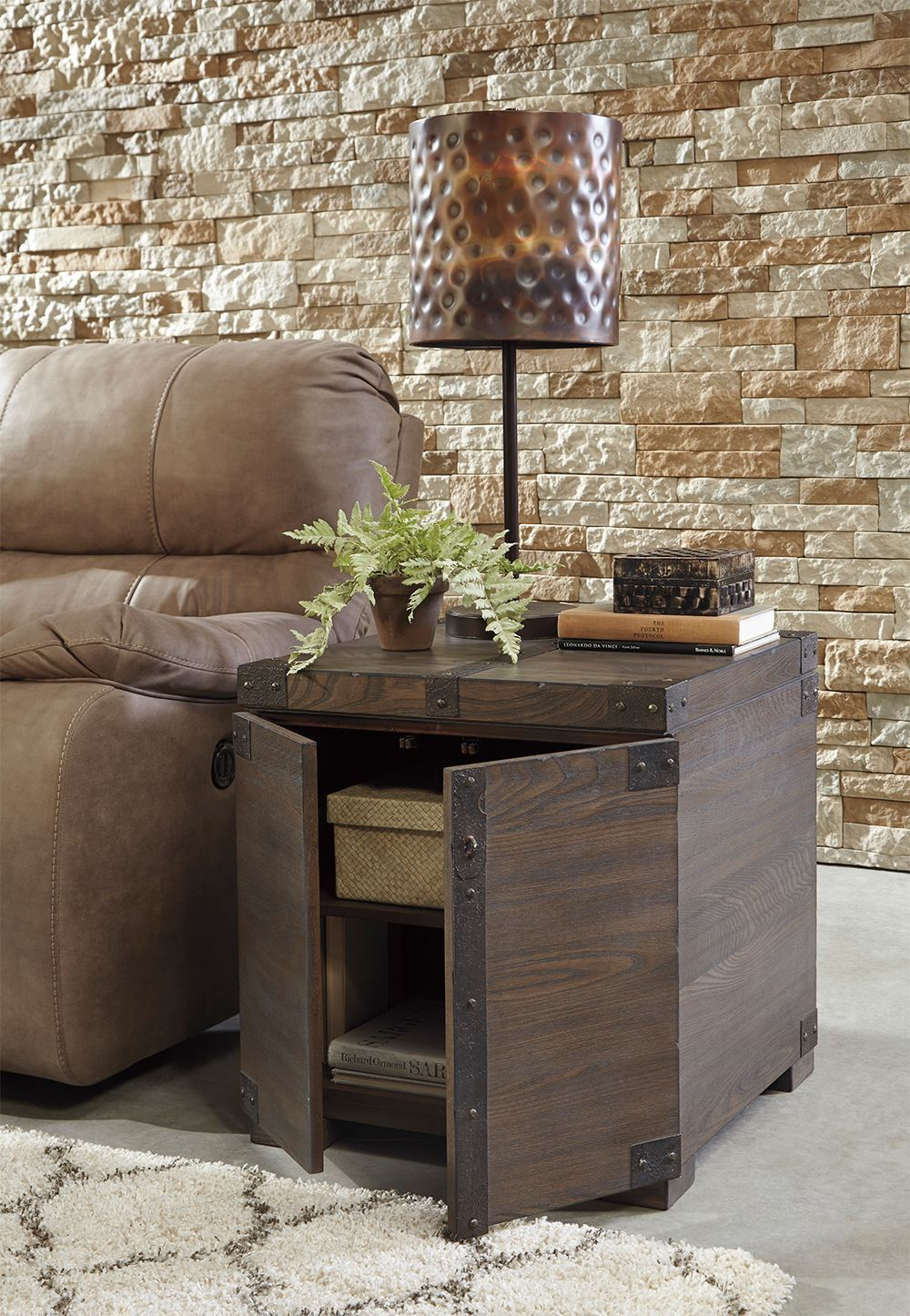 Picture of Burladen Brown Square End Table