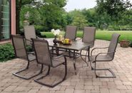 Westcott Table with Six Sling Spring Chairs
