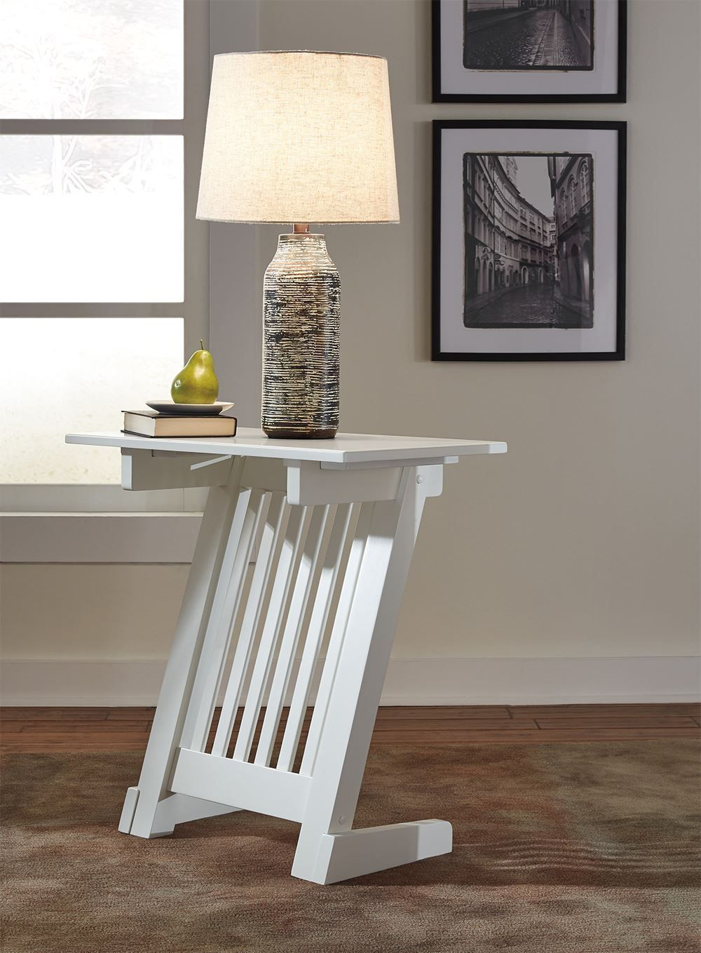 Picture of Braunner White Chairside Table