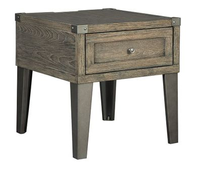 Chazney Brown Rectangular End Table