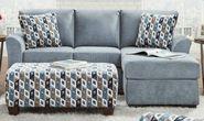 Anna Blue Sofa Chaise