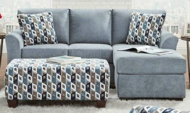 Anna Blue Sofa Chaise