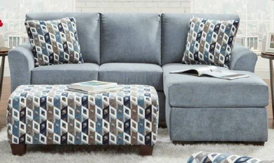 Picture of Anna Blue Sofa Chaise