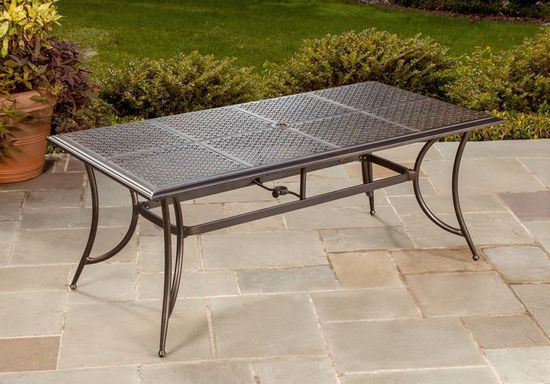 Picture of Manhattan Rectangular Table with Four Swivel Rockers
