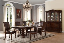 Lordsburg Double Pedestal Extension Table with Four Side Chairs and Two Arm Chairs