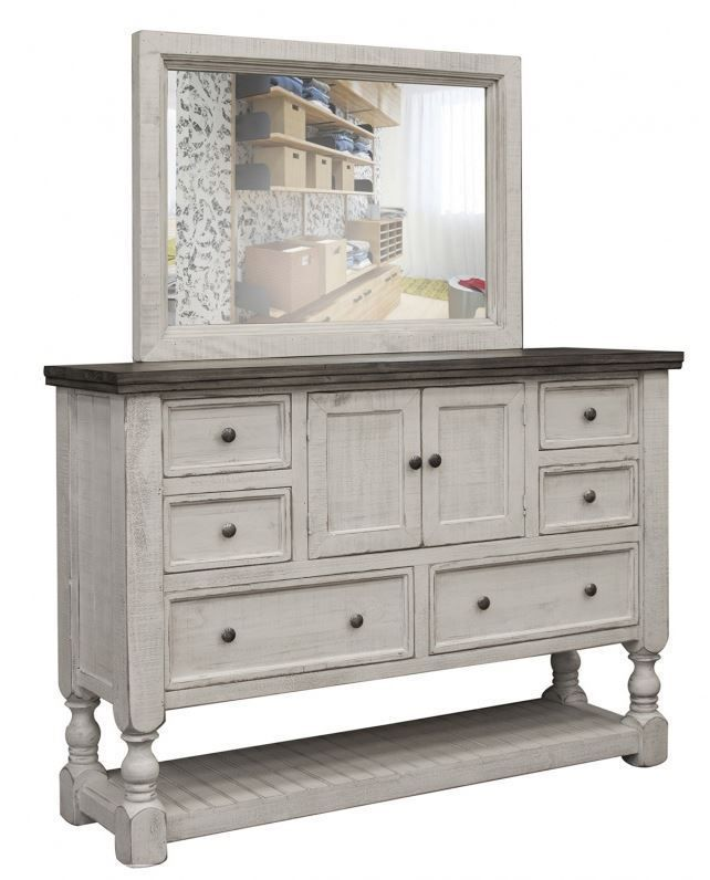 Picture of Stone Six Drawer Two Door Dresser