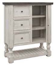 Stone Three Drawer One Door Chest