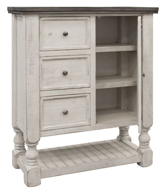 Picture of Stone Three Drawer One Door Chest
